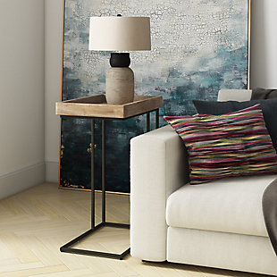 """Simpli Home 18"""" Rectangle Solid Mango wood Side Table, , rollover"""