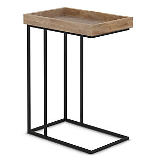 """Simpli Home 18"""" Rectangle Solid Mango wood Side Table, , large"""