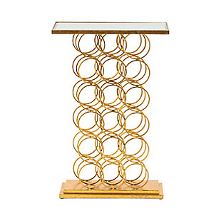 Crestview Collection Melrose Wine Rack Console Table, , large