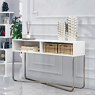 The Urban Port Console Table with 2 Open Compartments, , rollover