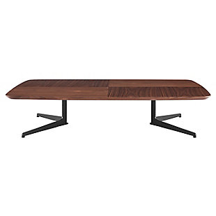 "Ramili 51"" Rectangular Coffee Table in American Walnut and Matte Dark Gray Base, , large"