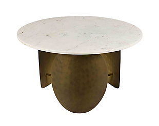 Indio White Marble Cocktail Table, , large