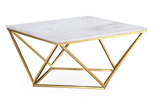 Leopold White Marble Cocktail Table, , large