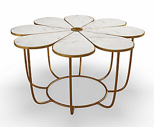 Flower Marble Cocktail Table, , large