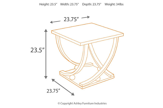 rollins end table | ashley furniture homestore