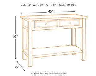 Bolanburg Sofa/Console Table, , large