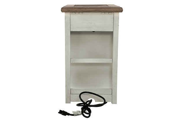 Bolanburg Chairside End Table with USB Ports & Outlets, , large