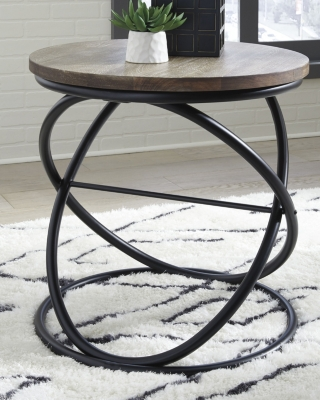 Image of Charliburi End Table, Brown/Black