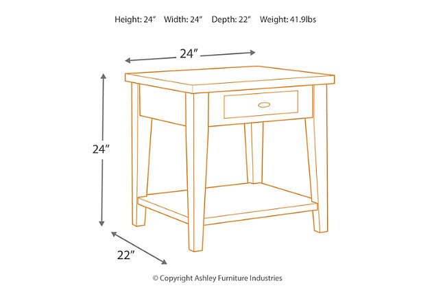 Branbury End Table, , large