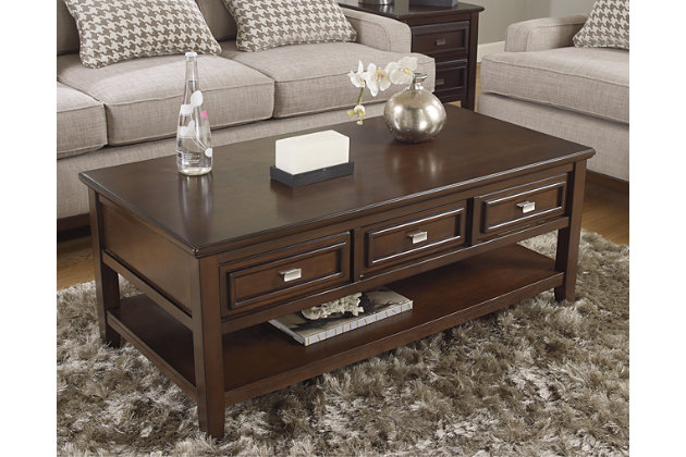Larimer Coffee Table Ashley Furniture HomeStore - Rectangular cocktail table by ashley furniture