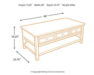 ... Larimer Coffee Table, , Large