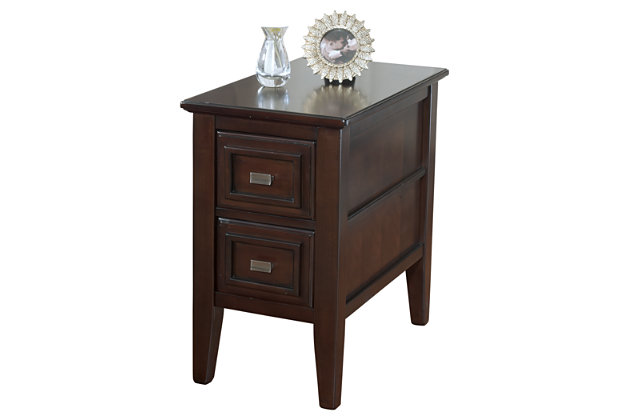 Larimer Chairside End Table by Ashley HomeStore, Brown