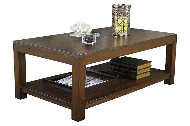 Grinlyn Coffee Table by Ashley HomeStore, Brown