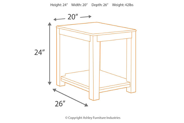 Grinlyn End Table, , large