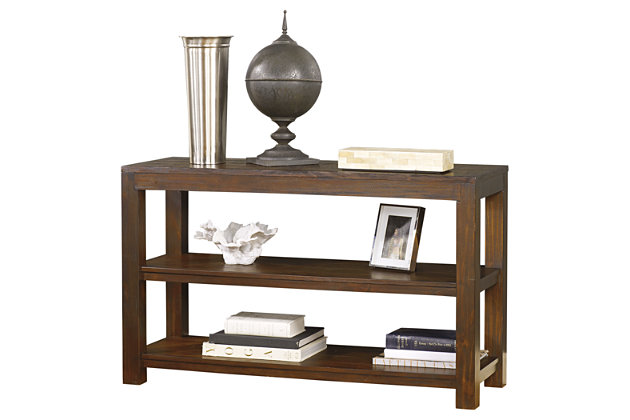Grinlyn Sofa/Console Table by Ashley HomeStore, Brown