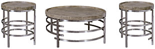 Zinelli Coffee Table with 2 End Tables, , large