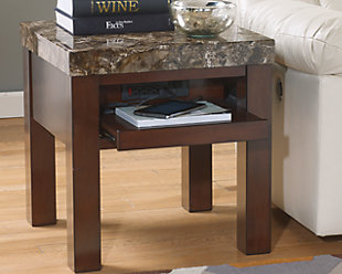 Kraleene End Table with USB Ports & Outlets, , rollover