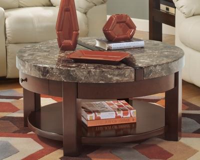 Ashley Kraleene Coffee Table with Lift Top, Dark Brown