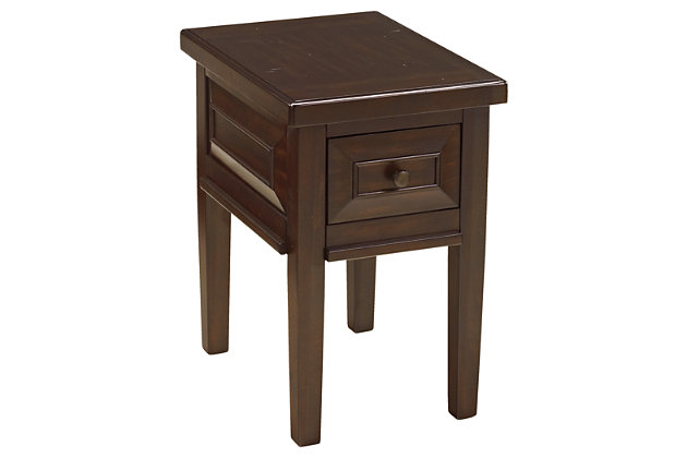 Hindell Park Chairside End Table by Ashley HomeStore, Brown