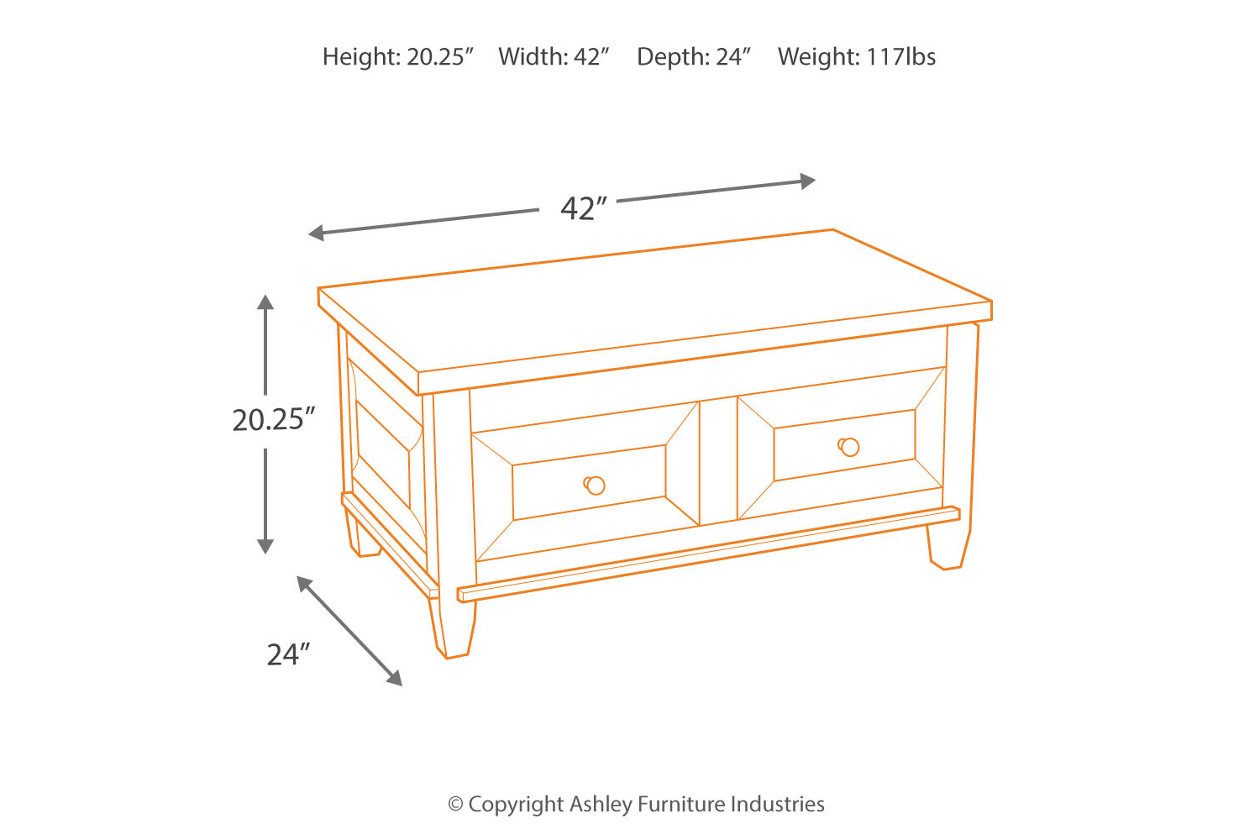 Hindell Park Coffee Table.Hindell Park Coffee Table With Lift Top Ashley Furniture Homestore