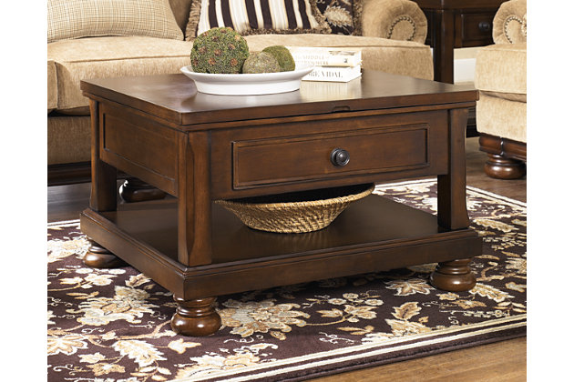 porter coffee table with lift top | ashley furniture homestore