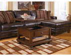 Rustic Brown Porter Coffee Table View 3