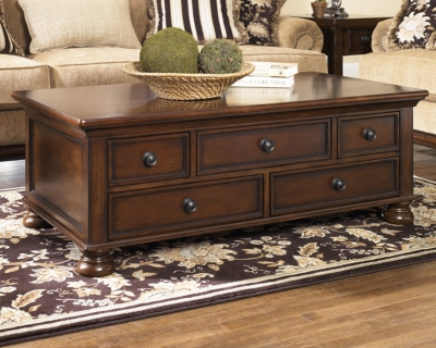 Porter Coffee Table by Ashley HomeStore, Rustic Brown