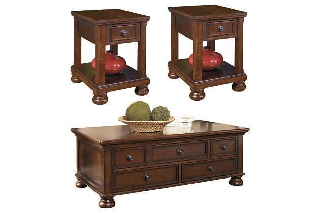 Porter Coffee Table With 2 End Tables, Coffee Tables At Ashley Furniture