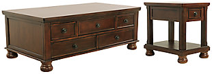 Porter Coffee Table with 1 End Table, , large
