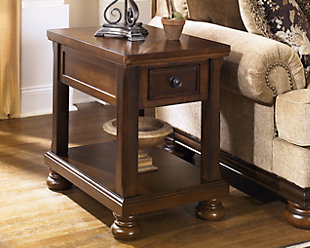 Large Porter Chairside End Table Rollover