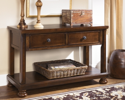 Porter SofaConsole Table Ashley Furniture HomeStore