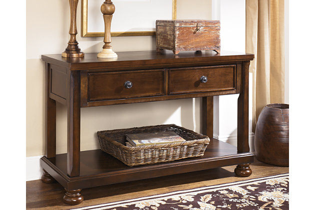 Ashley Furniture Foyer Table : Porter sofa console table ashley furniture homestore
