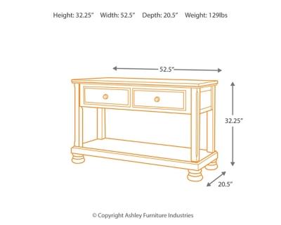 Porter SofaConsole Table Ashley Furniture HomeStore