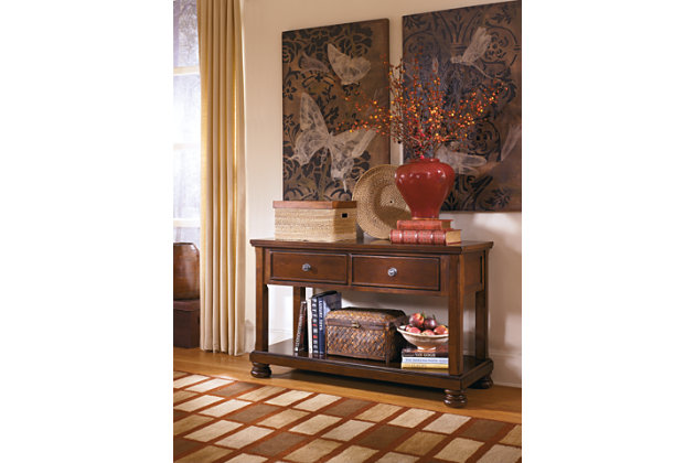 Porter Sofa/Console Table by Ashley HomeStore, Brown