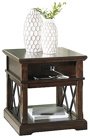 Roddinton End Table with USB Ports & Outlets, , large