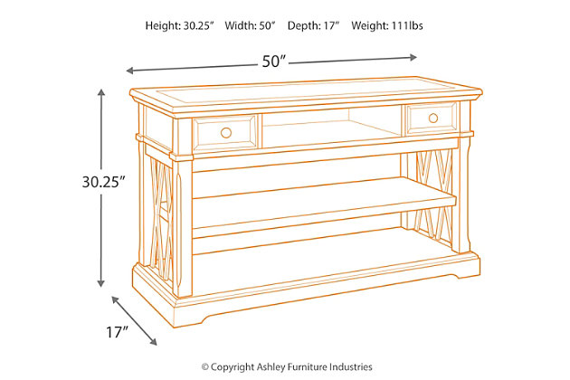 Roddinton Sofa/Console Table, , large