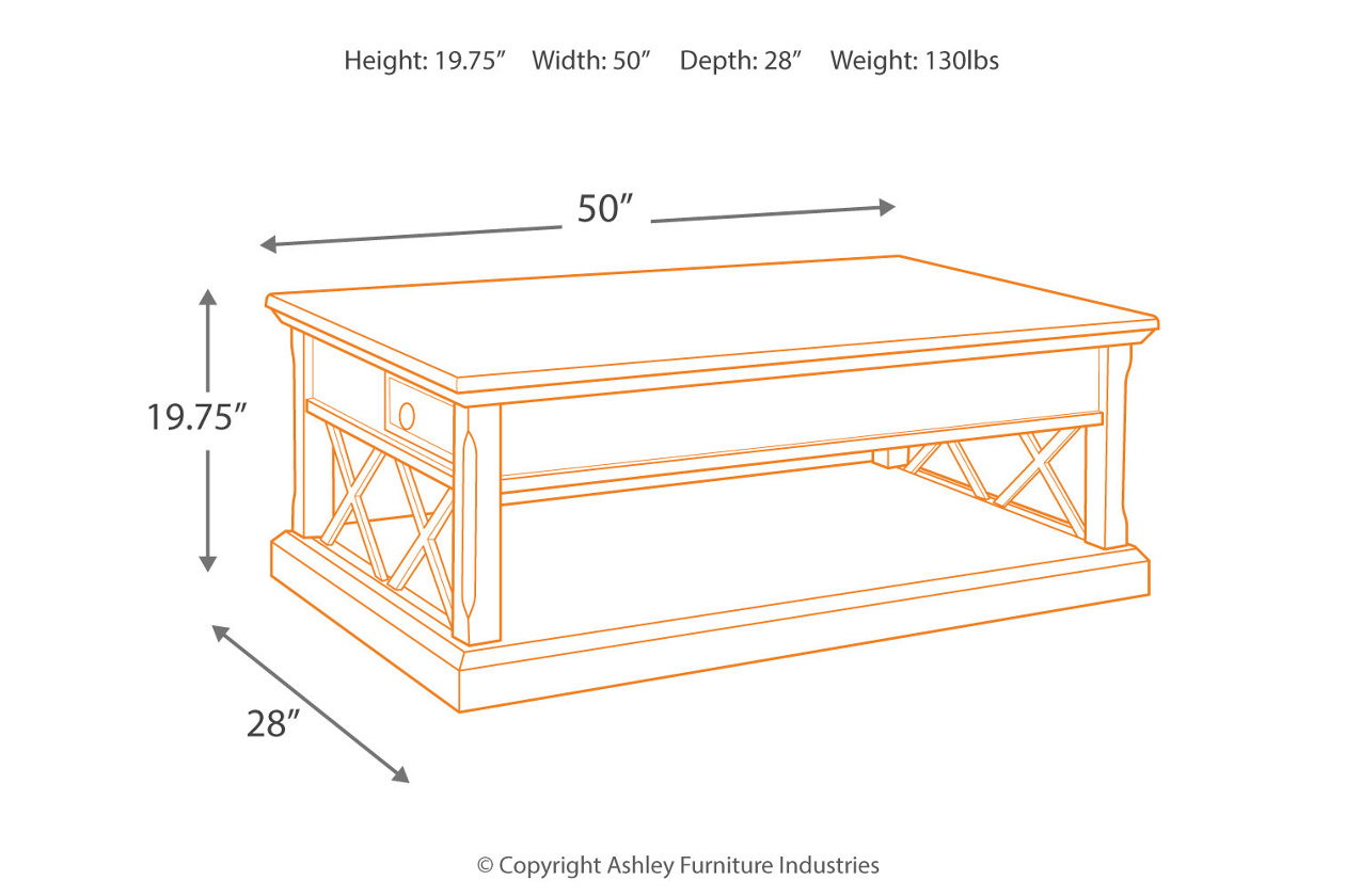 Roddinton Coffee Table With Lift Top Ashley Furniture Home