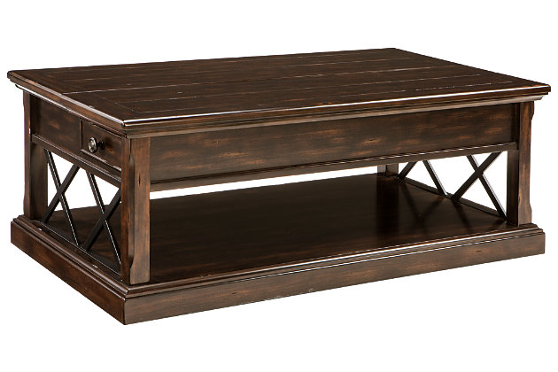 Roddinton Coffee Table With Lift Top Ashley Furniture