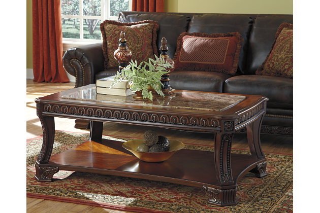 Ledelle Coffee Table Ashley Furniture HomeStore - Ashley furniture living room table set