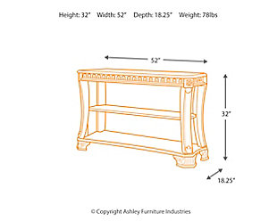 Ledelle Sofa/Console Table, , large