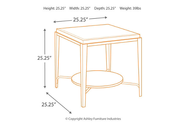Flandyn End Table, , large