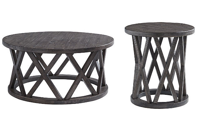 Sharzane Coffee Table with 1 End Table, , large