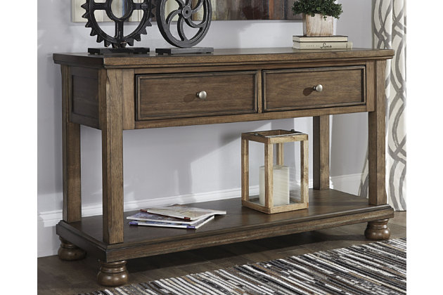 100% authentic dab24 15f32 Flynnter Sofa/Console Table | Ashley Furniture HomeStore