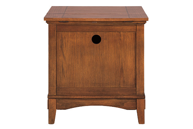 Cross Island Island End Table with Power Outlets, , large