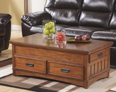 Cross Island Coffee Table with Lift Top, , large