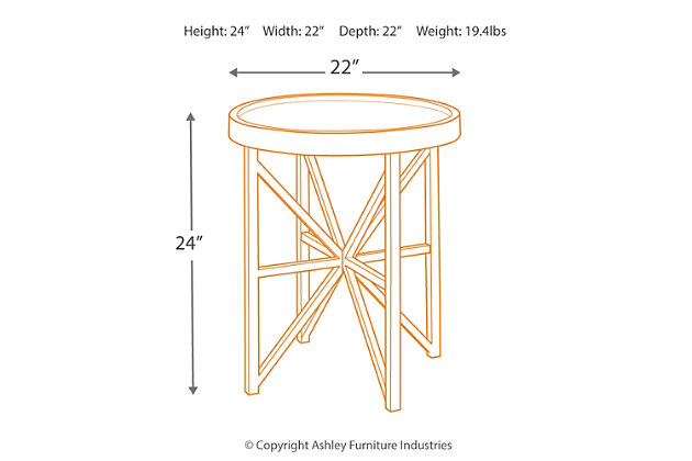 Cazentine End Table, , large