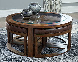 Hannery Coffee Table with Stools (Set of 5), , rollover