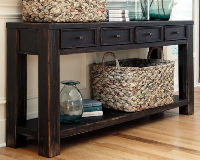 Gavelston SofaConsole Table Ashley Furniture HomeStore
