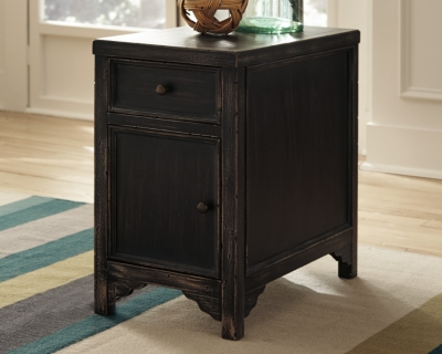 Ashley Gavelston Chairside End Table, Black