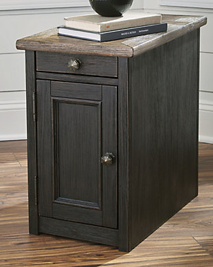 Tyler Creek Chairside End Table with USB Ports & Outlets, , rollover